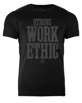 S367 Strong Work Ethic T-shirt Heather Black