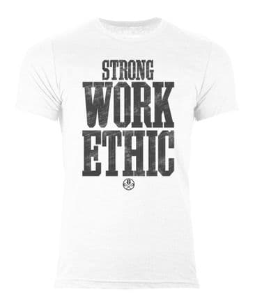 S367 Strong Work Ethic T-shirt White