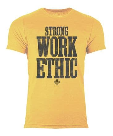 S367 Strong Work Ethic T-shirt Yellow Gold