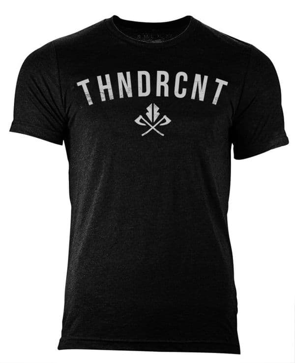 S62 Black ThndrCnt  tshirt - Heather black
