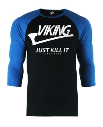 S66 Baseball Just Kill it - Black / Royal