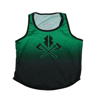 Ladies Cropped Sports Tank - Green