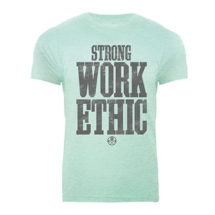 S367 Strong Work Ethic T-shirt Heather Prism Mint