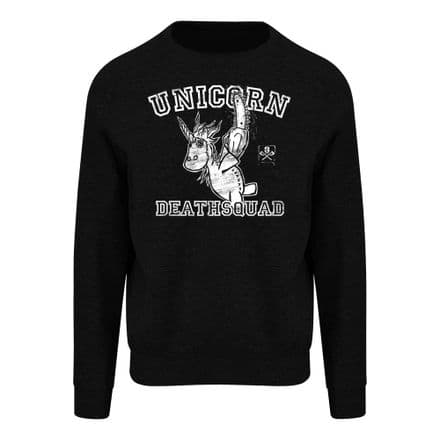 S84 Unicorn Death Squad  Heavyweight Sweatshirt Black