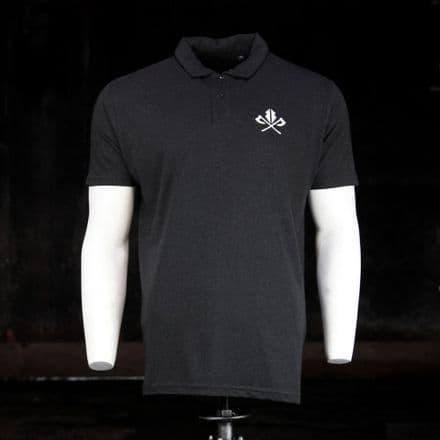 Triblend Polo  - Heather Black