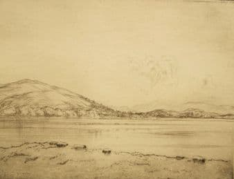 'Loch Venachar,Scotland' pencil signed; Robert Houston 1920's