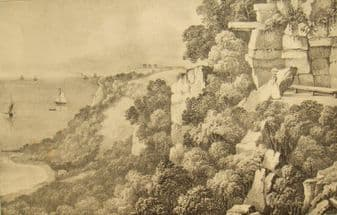 Antique Hastings lithograph engraving; Thomas Ross after Martin 1850
