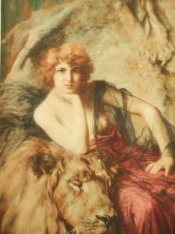 Emile Friant; French art deco Lion by Braun 1919