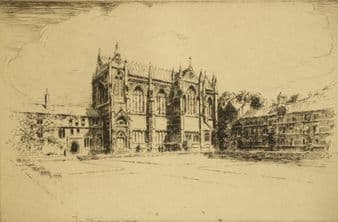 George Huardel-Bly; 'Keble Chapel, Oxford'  1920's