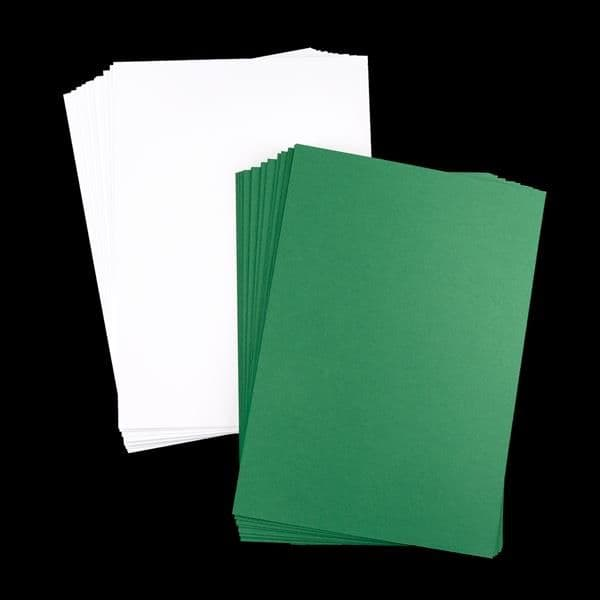 True Green & Super Smooth Unscored Cards 21cm x 30cm
