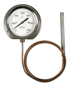 Back flange surface-mounted dial thermometer