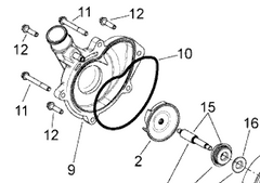 Aprilia Dorsoduro 750 Water Pump Shaft & Mechanical Seal Kit 8734975