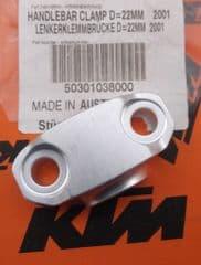 Genuine KTM EXC SX Handlebar Clamp 22mm 50301038000
