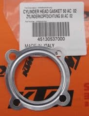 Genuine KTM SX50 Cylinder Head Gasket 50cc Air Cooled 45130537000