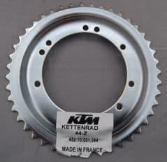 Genuine KTM SX50 Rear Sprocket z=45 teeth (Dished) 45010051045