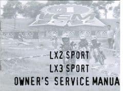 Genuine LEM LX2 / LX3 Sport Owners Manual - Use & Maintenance Handbook 0975/200053