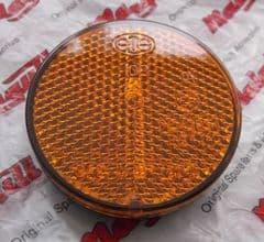 Genuine Malaguti Centro F10 F12 XSM XTM 55mm diameter Round Amber Reflector 071.225.00