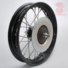 Genuine Malaguti Grizzly 10 Front Wheel - Black Rim 111.024.73