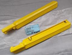Genuine Malaguti Grizzly 12 2001 Front Fork Protector Pair Yellow 063.215.11