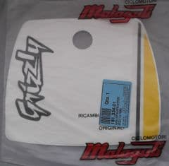 Genuine Malaguti Grizzly 12 Front Number Plate Decal (White) 181.334.01