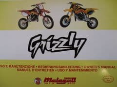 Genuine Malaguti Grizzly 2002 Owners Manual - Use & Maintenance Handbook 0975/210055