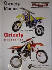 Genuine Malaguti Grizzly RCX10 RCX12 Owners Manual - Use & Maintenance Handbook 0975/210054