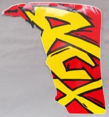 Genuine Malaguti Grizzly RCX10 RH Duct Decal (Red / Yellow) 181.015.01.03
