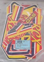 Genuine Malaguti Grizzly RCX12 4-speed (1990) Complete Decal Set - Red 181.053.01