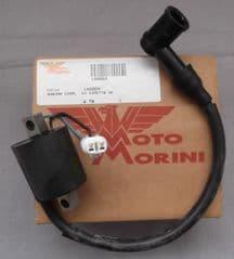 Genuine Morini Franco Motori S6C Ignition HT Coil with Spark Plug Cap 14.0004