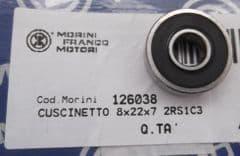 Genuine Morini Franco Motori S6C Water Pump Impeller Shaft Bearing 12.6038