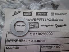 Genuine Moto Guzzi Aluminium Sealing Gasket Washer 10mm GU10528900