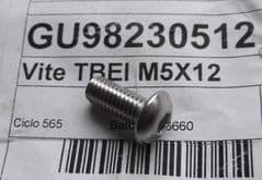 Genuine Moto Guzzi Hex Socket Button-head Screw M5 x 12mm GU98230512