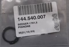 Genuine Polini Minicross Front Sprocket Retaining Circlip 144.540.007