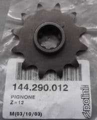 Genuine Polini Minicross Front Sprocket z=12 teeth 144.290.012