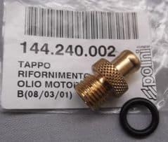 Genuine Polini Minicross Oil Filler Breather Cap 144.240.002