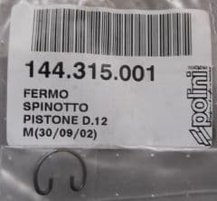 Genuine Polini Minicross Piston Circlip 12mm 144.315.001