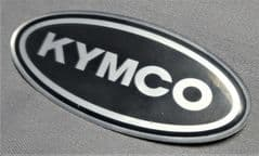 Kymco Gel Decal 76mm Black / Chrome 87206-KCN-8000A