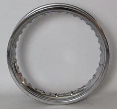 Malaguti Grizzly 10 & Motard Fr/Rr Wheel Rim - Chrome 117.018.00