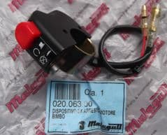 Malaguti Universal Handlebar Mount Engine Stop Kill Switch with cable 020.063.00