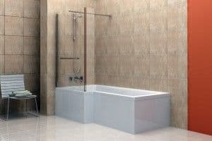 1700mm x 700mm EcoCube Shower Bath Package