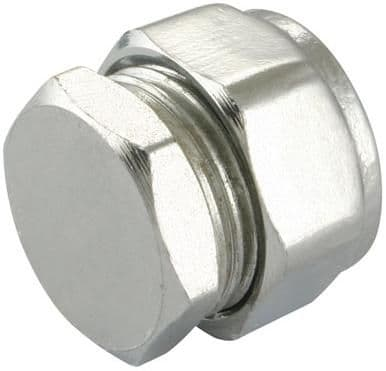 28mm compression chrome stop end fitting (Bag of 5=£22.05)