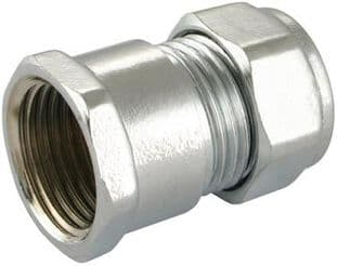 "28mm x 1"" compression chrome straight adaptor female fitting (Bag of 5=£22.05)"