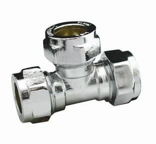35mm compression chrome equal tee fitting (Bag of 5=£116.55)