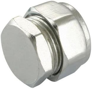 35mm compression chrome stop end fitting (Bag of 5=£44.55)