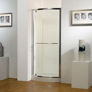 Kudos 900mm White Bowed Pivot Door