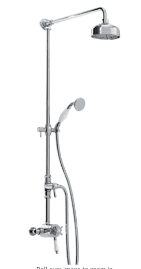 Bristan 1901 Thermostatic Exposed Shower Dual Mixer with Rigid Riser