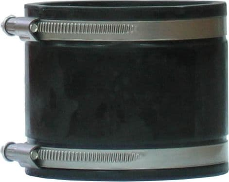 Cast Iron to Plastic Rubber Coupling 1 1/2