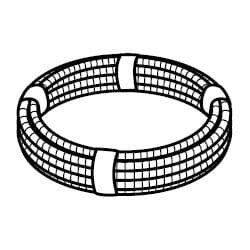 CPC2250 Polypipe Underfloor Heating Conduit polybutylene pipe coil 22mm x 50m coil