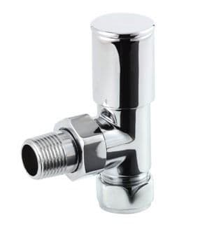 Inta Modern Angled Chrome Radiator Valves (Pair)