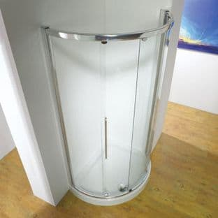 Kudos 1000mm Silver Offset Enclosure with side access